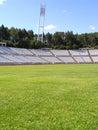 Empty soccer stadium Royalty Free Stock Images