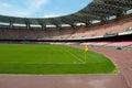 Empty soccer stadium stand in naples italy Stock Photos