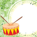 An empty space with a drum illustration of Royalty Free Stock Images