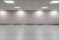 Empty Space of White Room with Ceiling Light for Gallery Interior Royalty Free Stock Photo