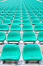 Empty spectator chairs Royalty Free Stock Photography