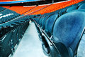 Empty sport arena seats game Royalty Free Stock Photo