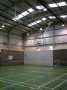 Empty sports hall Royalty Free Stock Photo