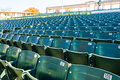 Empty stadium seating in large amphitheater many rows of a outdoor Royalty Free Stock Images