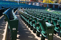 Empty stadium seating in large amphitheater many rows of a outdoor Royalty Free Stock Photos