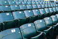 Empty stadium seating in large amphitheater many rows of a outdoor Stock Photo