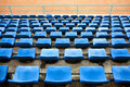 Empty stadium seats Royalty Free Stock Photo