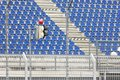 Empty stadium seats Stock Image
