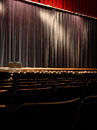 Empty stage dark or theater Stock Image