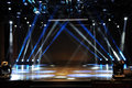 Empty stage in light beam Royalty Free Stock Photo
