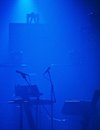 Empty stage in silhouette before a concert Royalty Free Stock Photos