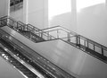 Empty stairs and escalator Royalty Free Stock Photo