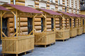 Empty stalls Royalty Free Stock Photography