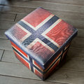 Empty stool box - American Flag graphic useful stool, inside is Royalty Free Stock Photo