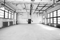 Empty storehouse large store house interior Royalty Free Stock Image