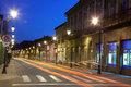 Empty street in Baia Mare Royalty Free Stock Photo