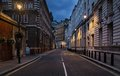 Empty street of London Royalty Free Stock Photo