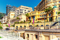 Empty street of monaco beautiful city landscape Stock Photos