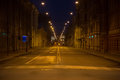 Empty street at night Royalty Free Stock Photo