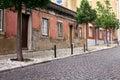 Empty street road in city