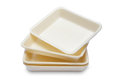 Empty styrofoam food container Royalty Free Stock Photo