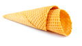 Empty sugar waffle cone Royalty Free Stock Images