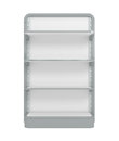 Empty supermarket shelf d illustration Royalty Free Stock Photo