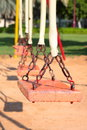 Empty swing a photo of an or vacant Royalty Free Stock Photo