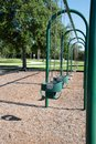Empty swings in a playground Royalty Free Stock Photo