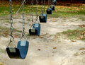 Empty swings up close of Royalty Free Stock Images