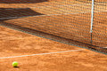 Empty tennis court Royalty Free Stock Images