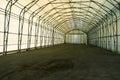 Empty tent warehouse modern indoor Stock Image