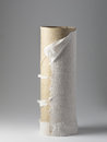 Empty toilet roll closeup of on grey background Royalty Free Stock Image