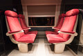 Empty train compartment Royalty Free Stock Photo