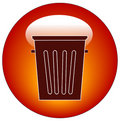Empty trash can icon Stock Photography