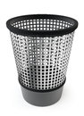 Empty trash garbage bin white background Royalty Free Stock Photography