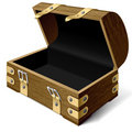 Empty treasure chest Royalty Free Stock Photos
