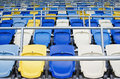 Empty tribunes Stock Photo