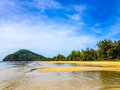 Empty tropical beach at low tide Stock Photography