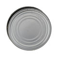 Empty tuna can with lid on top Royalty Free Stock Photo