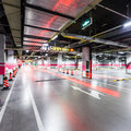 Empty underground parking in airport Royalty Free Stock Image