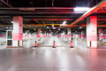 Empty underground parking in airport Royalty Free Stock Photography