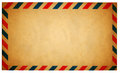 Empty vintage air mail envelope isolated on white Royalty Free Stock Photo
