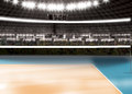 Empty volleyball court - Sport Theme Royalty Free Stock Photo