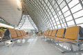 Empty waiting area airport in the early hours of the day Stock Photography