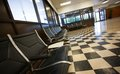 Empty waiting room chairs at a big at an airport Royalty Free Stock Images