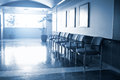 Empty Waiting Room In Modern Hospital Royalty Free Stock Photo
