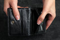 Empty wallet Royalty Free Stock Photo