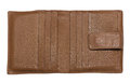 Empty wallet brown leather without credit cards Stock Images