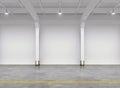 Empty warehouse interior Royalty Free Stock Photo